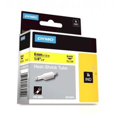 Dymo RhinoPro Isıyla Küçülen Şerit 6mmx1.5m Sarı/Siyah 18052