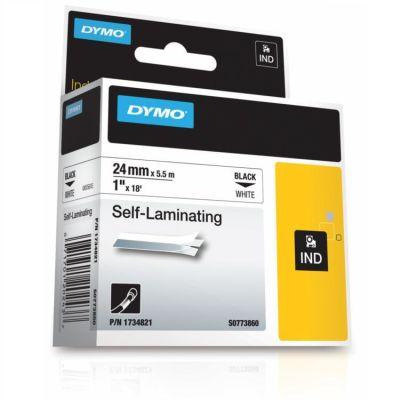 Dymo RhinoPro Lamine Vinil 24mmx5.5m Beyaz/Siyah 1734821