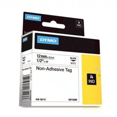 Dymo RhinoPro Yapışkansız Şerit 12mmx5.5m Beyaz/Siyah 18113