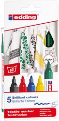 Edding - Edding 4500 Kumaş Boyama Kalemi Standart Renkler 5li