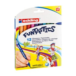 Edding - Edding Funtastics Keçe Uçlu Kalem İnce 12li