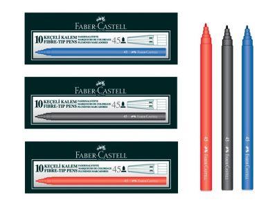 Faber Castell Keçeli Kalem Mavi 10lu