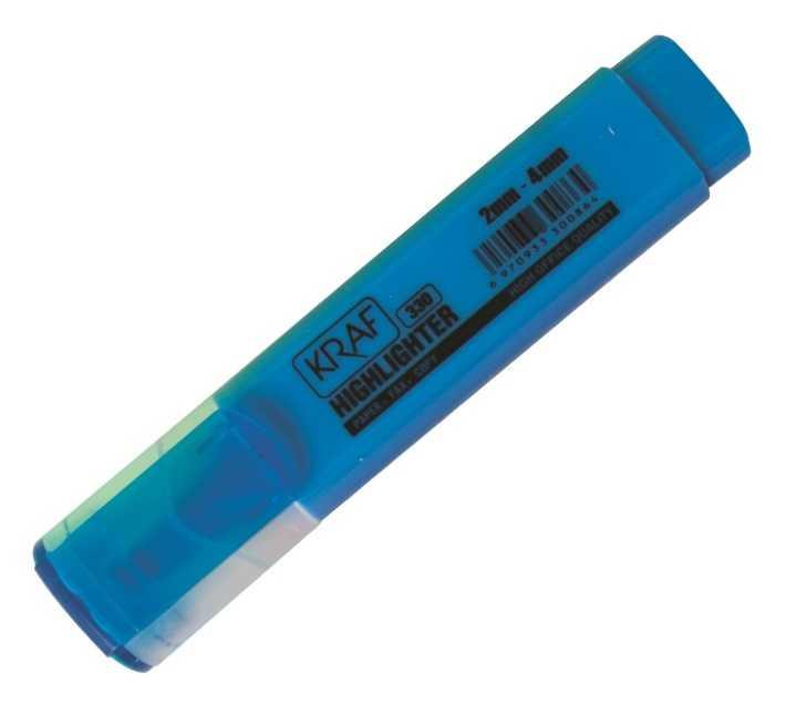 Kraf Fosforlu Kalem Geniş Gövde Mavi