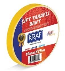 Kraf - Kraf Bant Çift Taraflı 12mmx25m