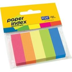 Kraf - Kraf Kağıt İndex 15x50mm 5 Renk 100yp