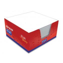 Kraf - Kraf Küp Beyaz Bloknot 9x9
