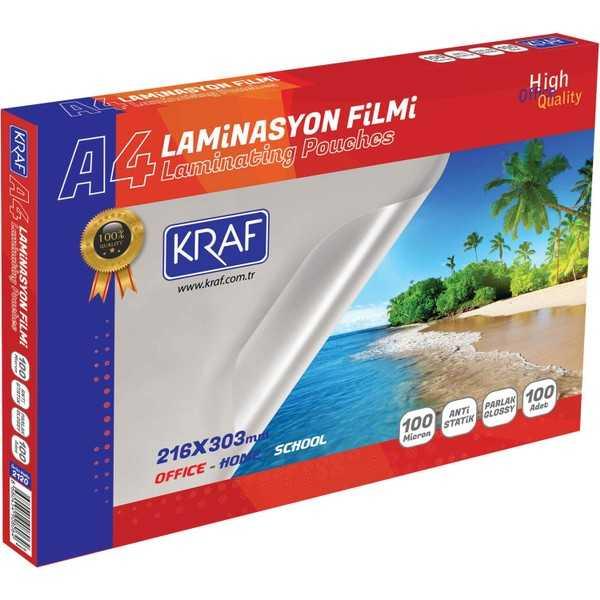 Kraf Laminasyon Filmi Parlak A4 100mic 100lü 2120