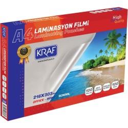 Kraf - Kraf Laminasyon Filmi Parlak A4 100mic 100lü 2120