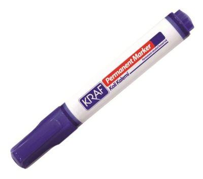 Kraf Permanent Koli Kalemi Yuvarlak Uç Mavi