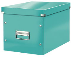 Leitz - Leitz Click Store Küp Geniş Saklama Kutusu Metalik Buz Mavisi