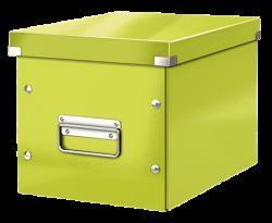 Leitz - Leitz Click Store Küp Geniş Saklama Kutusu Metalik Yeşil