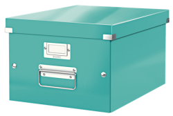 Leitz - Leitz Click Store Küp Orta Saklama Kutusu Metalik Buz Mavisi