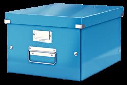 Leitz - Leitz Click Store Küp Orta Saklama Kutusu Metalik Mavi
