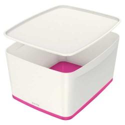 LEITZ - Leitz MyBox Kapaklı Geniş Saklama Kutusu Pembe Beyaz