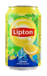 Lipton - Lipton Ice Tea Kutu Limon 330 cc 24lü