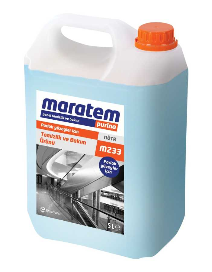 Maratem M233 Parlak Yüzeyler İçin Temizlik Ve Bakım Ürünü 5lt