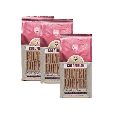 3 Adet Mehmet Efendi Colombian Filter Coffee 250 gr Öğütülmüş