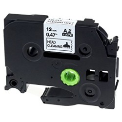 Etiketim - Muadi P-Touch TZ-tape 12mm Etiket Yeşil-Siyah 12AZE731