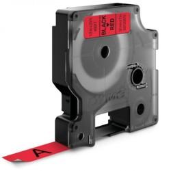 ETİKETİM - Muadil D1 Yedek Şerit 12mmx7m Kırmızı/Siyah 45017