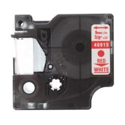 Etiketim - Muadil D1 Yedek Şerit 9mmx7m Beyaz/Kırmızı 40915