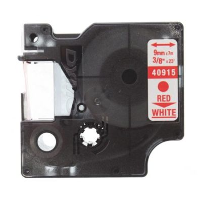 Muadil D1 Yedek Şerit 9mmx7m Beyaz/Kırmızı 40915