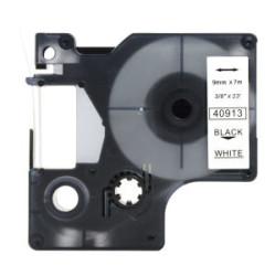 ETİKETİM - Muadil D1 Yedek Şerit 9mmx7m Beyaz/Siyah 40913