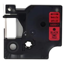 ETİKETİM - Muadil D1 Yedek Şerit 9mmx7m Kırmızı/Siyah 40917