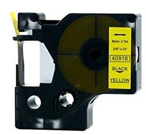 Muadil D1 Yedek Şerit 9mmx7m Sarı/Siyah 40918