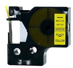 Etiketim - Muadil D1 Yedek Şerit 9mmx7m Sarı/Siyah 40918