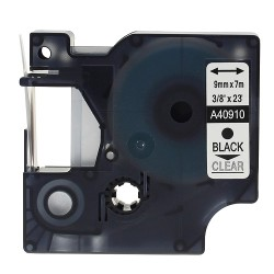 ETİKETİM - Muadil D1 Yedek Şerit 9mmx7m Şeffaf/Siyah 40910