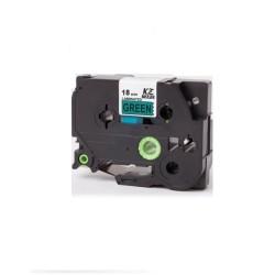 Etiketim - Muadil P-Touch 18AZE741 Yeşil-Siyah TZ-tape 18mm