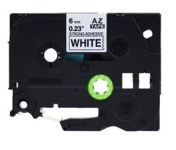 Etiketim - Muadil P-Touch 6AZE111 Şeffaf-Siyah TZ-tape 6mm Etiket