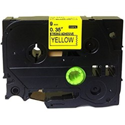 Etiketim - Muadil P-Touch 6AZE611 Sarı-Siyah TZ-tape 6mm Etiket