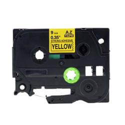 Etiketim - Muadil P-Touch 9AZE621 Sarı-Siyah TZ-tape 9mm Etiket