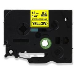 Etiketim - Muadil P-Touch TZ-tape 12mm Etiket Sarı-Siyah 12AZE631