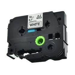 Etiketim - Muadil P-Touch TZ-tape 18mm Etiket Beyaz-Siyah 18AZE241