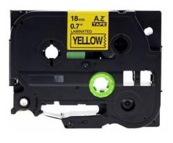 ETİKETİM - Muadil P-Touch TZ-tape 18mm Etiket Sarı-Siyah 18AZE641