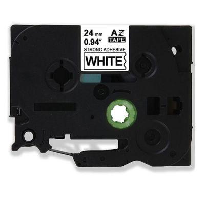 Muadil P-Touch TZ-tape 24 mm Etiket Beyaz-Siyah 24AZE251