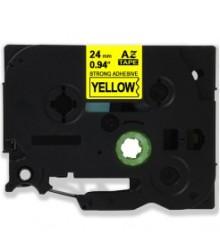 Etiketim - Muadil P-Touch TZ-tape 24mm Etiket Sarı-Siyah 24AZE651