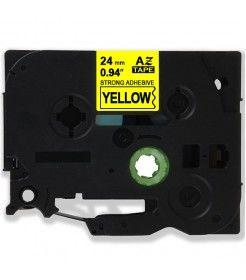 Muadil P-Touch TZ-tape 24mm Etiket Sarı-Siyah 24AZE651