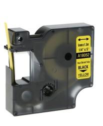 Etiketim - Muadil RhinoPro Isıyla Küçülen Şerit 6mmx1.5m Sarı/Siyah 18052