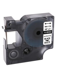 Etiketim - Muadil RhinoPro Isıyla Küçülen Şerit 9mmx1.5m Beyaz/Siyah 18053