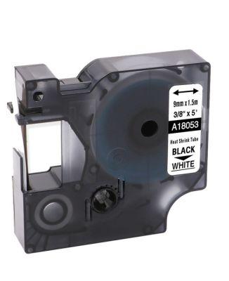 Muadil RhinoPro Isıyla Küçülen Şerit 9mmx1.5m Beyaz/Siyah 18053