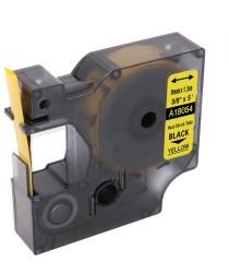 ETİKETİM - Muadil RhinoPro Isıyla Küçülen Şerit 9mmx1.5m Sarı/Siyah 18054
