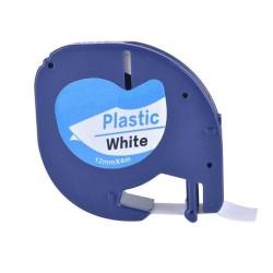 Etiketim - Muadil Sarf LetraTag Beyaz Plastik Şerit 12 mm