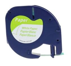 Etiketim - Muadil Sarf LetraTag Kağıt Şerit Beyaz 12mm