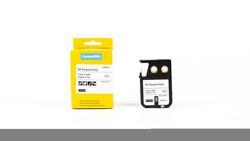 Etiketim - Muadil XTL Çok Amaçlı Vinil, 12 mm x 7 m, Beyaz/Siyah