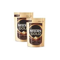 Nescafe - 2 Paket x Nescafe Gold Eko Paket 200gr