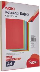 Noki - Noki Renkli Fotokopi Kağıdı 5 Renk Neon 50 Yaprak 89107