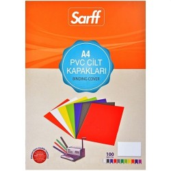 SARFF TL - Sarff Opak Cilt Kapağı A4 160 Mic Şeffaf